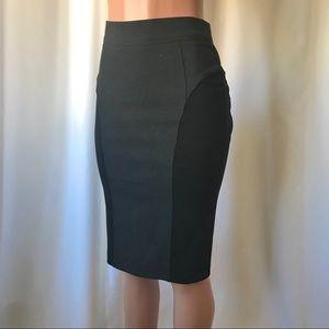Burberry two tone grey black stretch pencil skirt